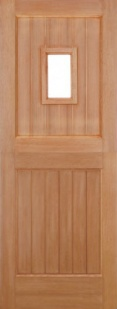 External Hardwood Stable 1L Straight Top Unglazed Door
