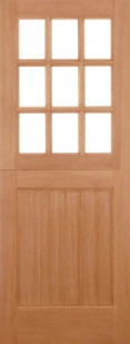External Hardwood Stable 9L Straight Top Unglazed Door