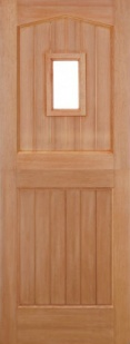 External Hardwood Stable 1L Unglazed Door