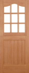 External Hardwood Stable 9L Unglazed Door
