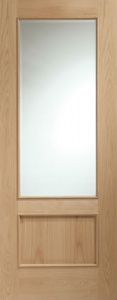 Internal Oak Andria Clear Glazed Door (78'' x 30'')