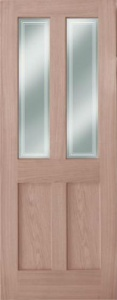 Internal Oak Bristol 2 Light 2 Panel Door