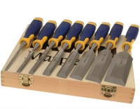Marples Bevel Edge Soft Touch Woodworking Chisel Set