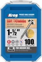 Kreg Zinc Coated Pocket Hole Screw 38mm (1 1/2'') Coarse Thread