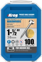 Kreg Zinc Coated Pocket Hole Screw 38mm (1 1/2'') Fine Thread