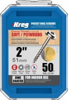 Kreg Zinc Coated Pocket Hole Screw 51mm (2'') Coarse Thread