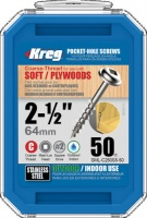 Kreg Zinc Coated Pocket Hole Screw 64mm (2 1/2'') Coarse Thread