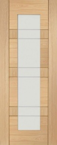 Internal Latina Oak Door with Etched Glass
