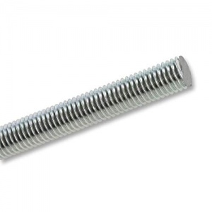 M12 x 300mm Steel Threaded Bar Zinc Plated