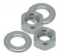 M12 Steel Nut and Washer Zinc Plated (pack of 10 + 10)