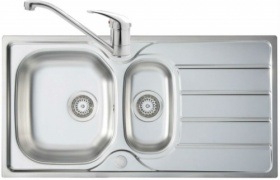 Mersey 1.5 Bowl Stainless Steel Sink with Finesse Tap