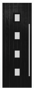 External Composite Milton Black Door Set