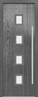 External Composite Milton Grey Door Set