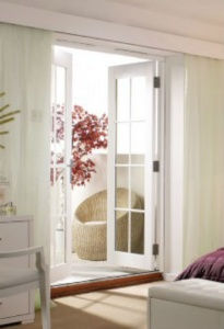 NuVu External Unfinished Oak French Doors 1200mm