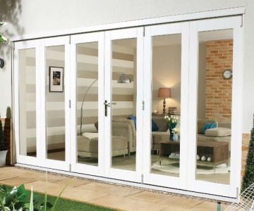 Pre-Finished White NUVU Folding/Sliding External Doorsets