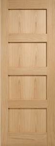 Internal Oak Contemporary 4 Panel Door