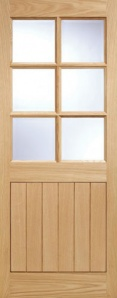 External Oak Cottage Stable 6 Light Door
