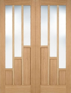 Internal Oak Coventry Glazed Pairs Doors