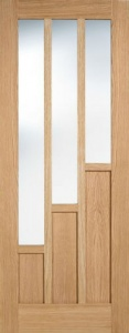 Internal Pre-Finished Oak Coventry Glazed Door