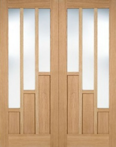 Internal Pre-Finished Oak Coventry Pairs Doors