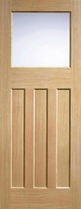 Internal Oak DX 30's Style Glazed Door