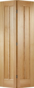 Internal Oak Bi-Fold Lincoln Glazed Door