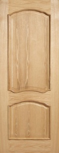 Internal Oak Louis Door With Raised Mouldings