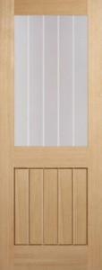 Internal Oak Mexicano Half Light Door