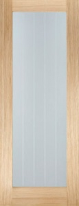 Internal Oak Mexicano Pattern 10 Glazed Door