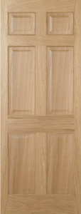 Internal Oak Regency 6 Panel Door