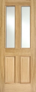 Internal Oak Richmond Glazed Door With Raised Mouldings