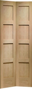Internal Oak Shaker Bi-Fold Door