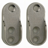 Rothley Oval Sockets Chrome Finish (pack of 2)