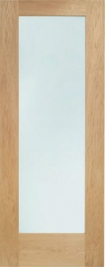 Internal Pattern 10 Oak Fire Door with Clear Glass
