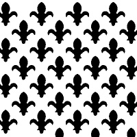 Fleur De Lys White Faced Perforated MDF Screen Panel 1830mm x 610mm x 3mm