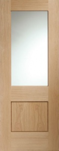 Internal Oak Piacenza Glazed Door (78'' x 30'')