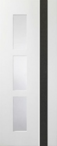 Internal Pre-Finished White/Grey Praiano Glazed Door (78'' x 30'')