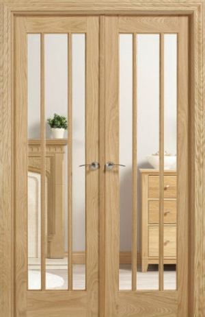 Internal Oak Lincoln W4 Room Divider