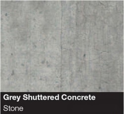 Spectra Square Edge Worktop - Grey Shuttered Concrete