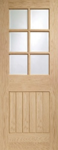 Internal Pre-finished Oak Suffolk Clear Glazed Door