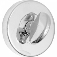 Thumbturn & Release Bathroom Lock in Polished Chrome centre with Satin Nickel outer