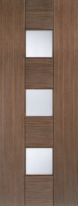 Internal Pre-Finished Walnut Catalonia Glazed Door