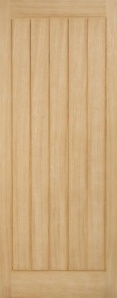 External Oak Geneva Warmer Door - Part L Compliant