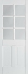 Internal Primed White Canterbury Glazed Solid Door