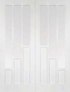 Internal Primed White Coventry Glazed Solid Door Pairs
