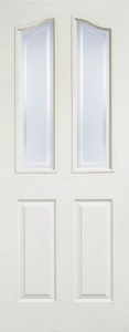 Internal Composite White Mayfair Glazed Door