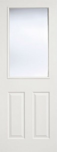 Internal Composite White 2 Panel - 1 Light Glazed Door