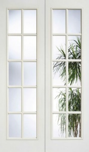 Internal Composite White SA Glazed Door Pairs