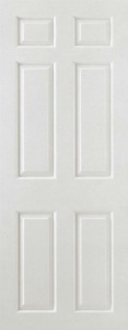 Internal Composite White Smooth 6 Panel Door
