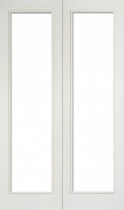 Internal Primed White Pattern 20 Glazed Solid Door Pairs
